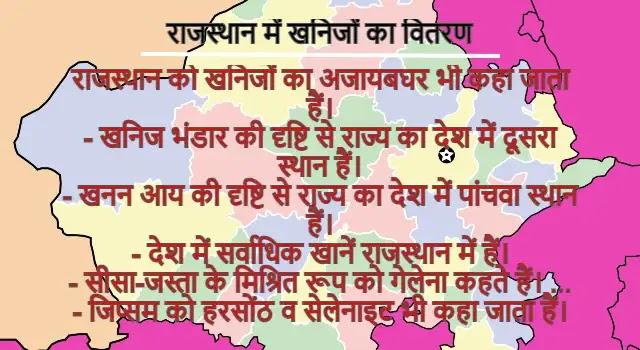 Rajasthan me Khanij - राजस्थान में खनिज संसाधन