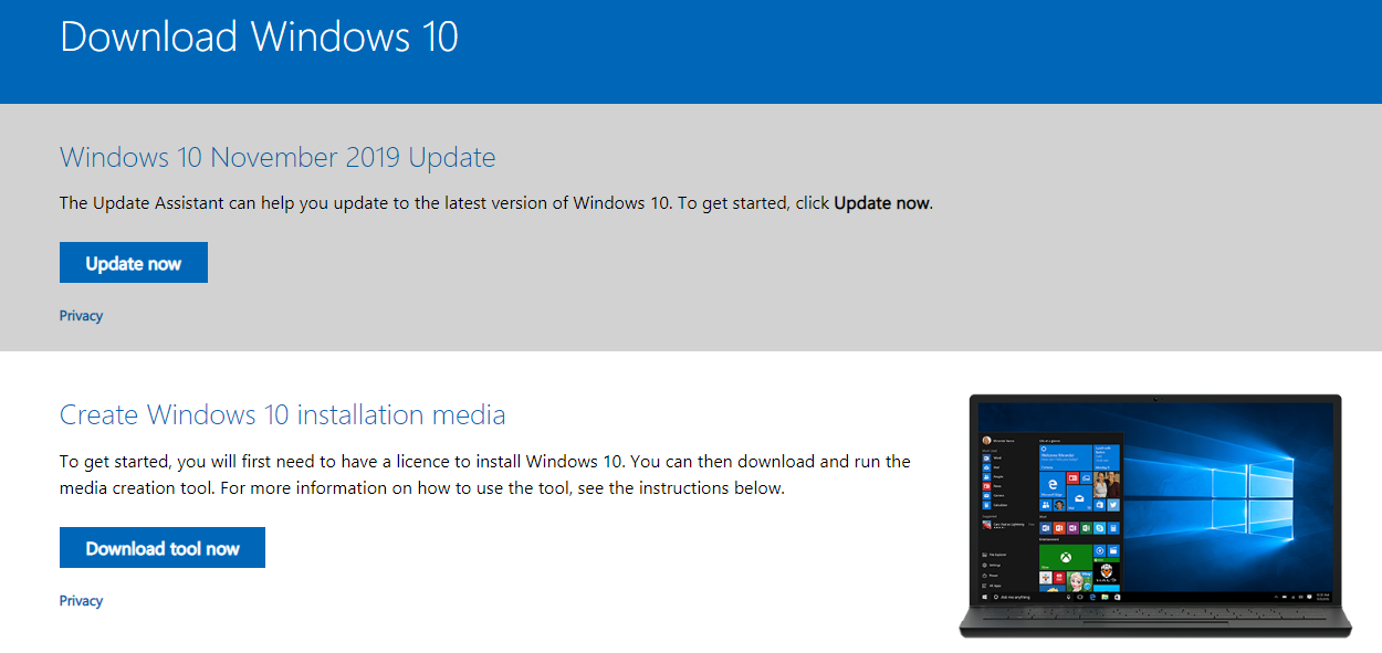 Cara Download Master ISO Windows 10 Original dari Microsoft