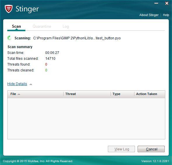 McAfee Stinger tool | Supratim Sanyal's Blog