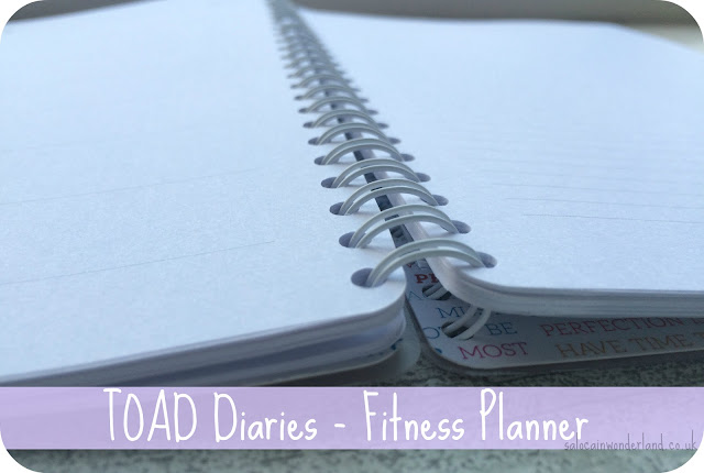 toad diaries fitness planner