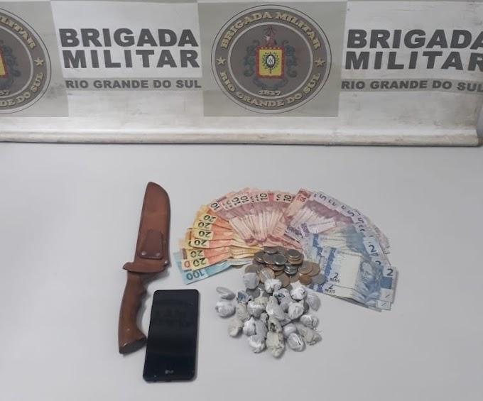 Brigada Militar prende traficante no bairro Rincão da Madalena em Gravataí