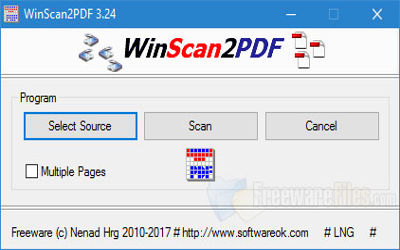 WinScan2PDF - Numériseur de Docs sur Windows