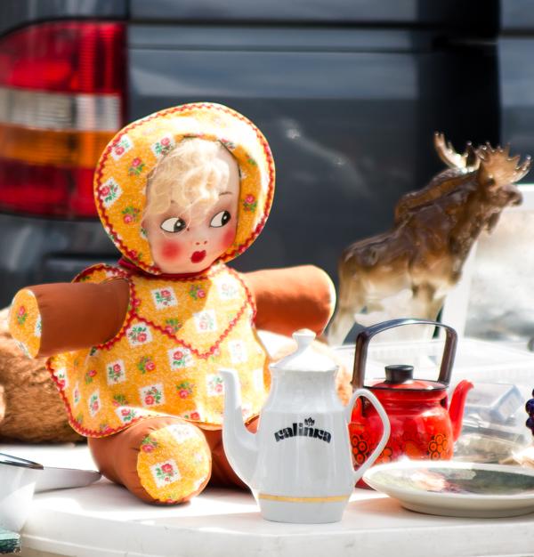 PauMau blogi tapahtumat kesä 2015 rompetori kirppis kirpputori rajamäki nurmijärvi vintage räsynukke vanha nukke hirvi eläinpatsas rag doll old doll elg animal statue
