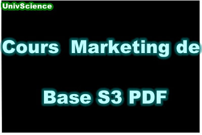Cours Marketing de Base S3 PDF.