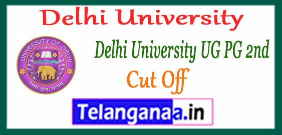 DU Delhi University UG PG 2nd Cut Off 2017-18 College Wise