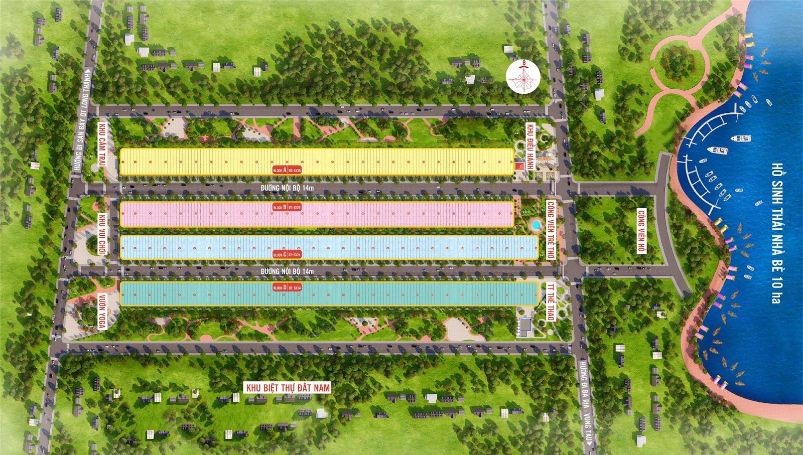 Bản đồ phân lô dự án Phú Mỹ Future City