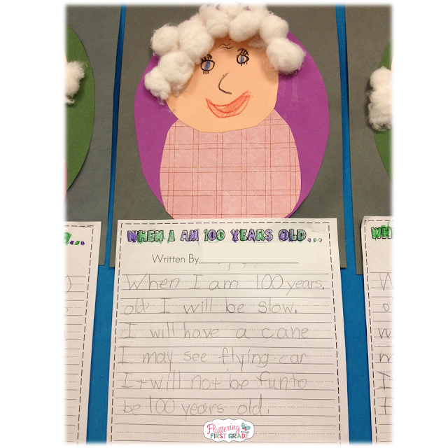 100th Day of School writing. When I am 100 years old...
