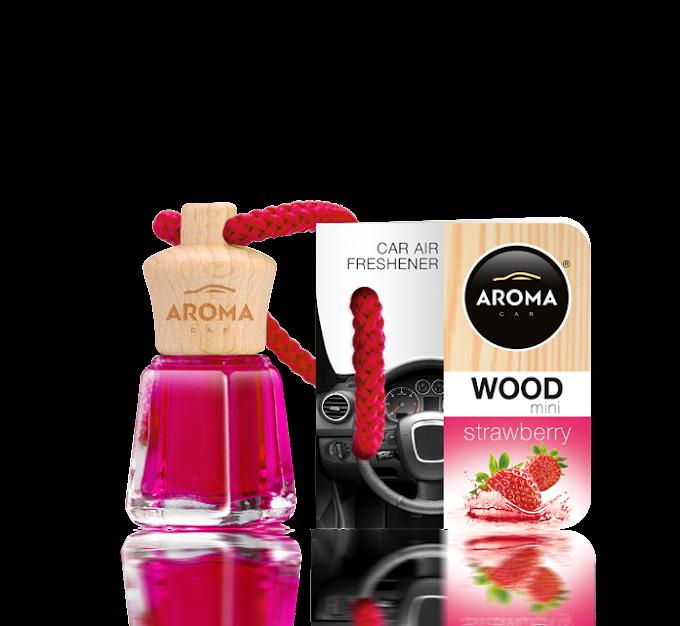 Tinh dầu treo ô tô Aroma Car Wood Mini 4ml - Strawberry