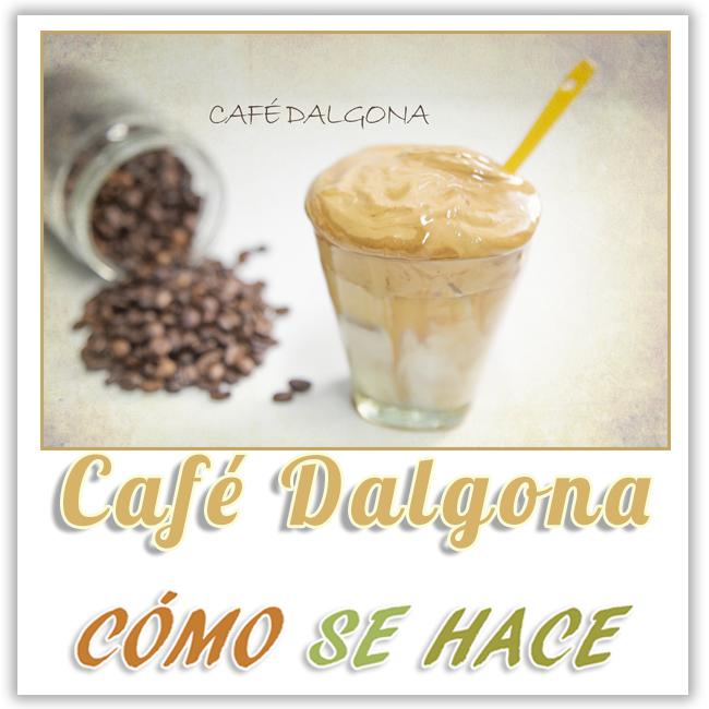 CAFÉ DALGONGA. FLUFFLY COFFEE. DALGONA COFFEE