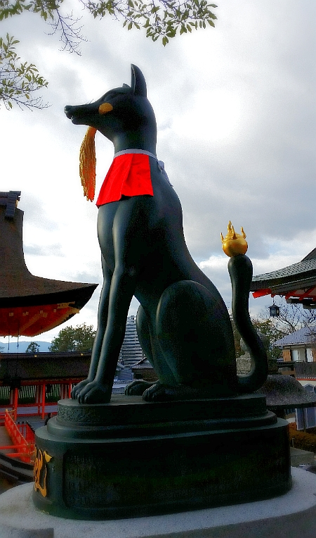 人文研究見聞録:伏見稲荷大社の稲穂をくわえた狐