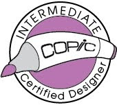 I'm now Intermediate Copic Certified Designer