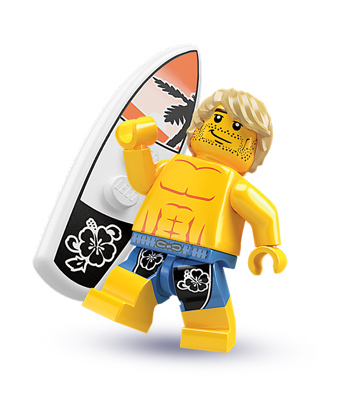 welcome to the daily donut lego surfer dude. Black Bedroom Furniture Sets. Home Design Ideas