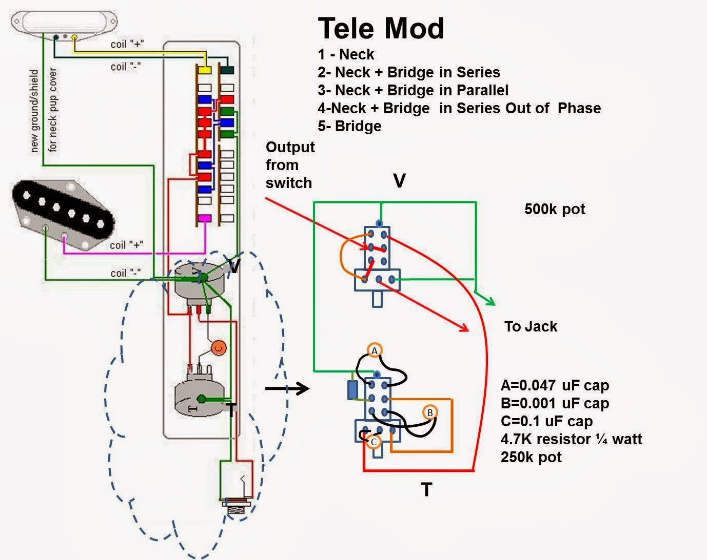 Fender Telecaster 4 Way Wiring Diagram Pyle Plbt72g Andy Summers