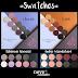 Swatches | Neve Cosmetics | Bohemian Romance & Amber Wonderland Palette