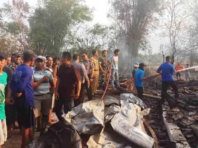 Empat Rumah di Desa Kropak Winong Terbakar, Dua Rata dengan Tanah