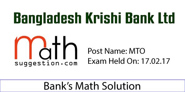 BKB Exam Math Solution MTO 2017