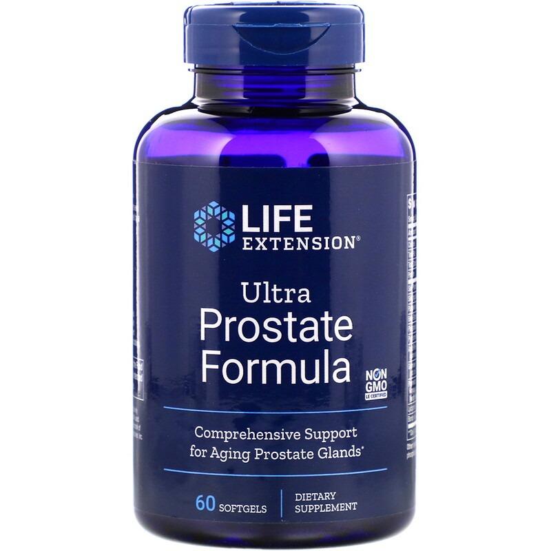 Life Extension, Ultra Prostate Formula, комплекс для поддержки простаты, 60 мягких таблеток