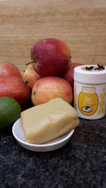 Zutaten für Bratapfelmarmelade mit Marzipan
