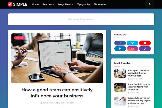 Simple blogger templates free download 2020