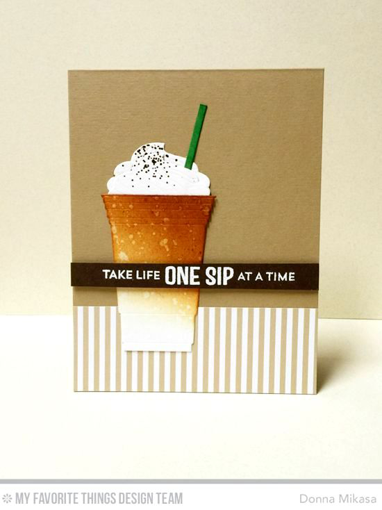 Handmade card from Donna Mikasa featuring Laina Lamb Design Stay Cool stamp set and Cool Cup Die-namics #mftstamps