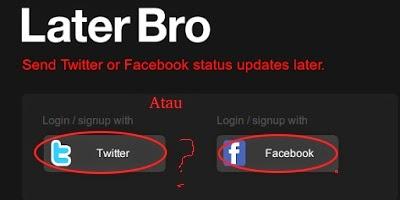 Cara Update Status Facebook dan Twitter Terjadwal Otomatis