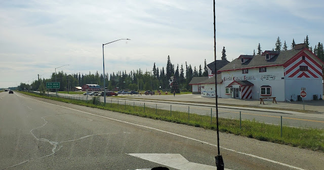 Passing Santa Clause house in North Pole