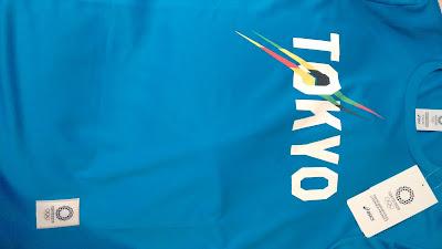 Camiseta azul conmemorativa de las futuras olimpiadas en Tokyo 2020