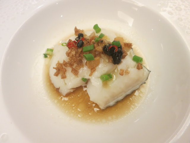 Steamed Silver Cod with Black Bean and Preserved Radish Pickle