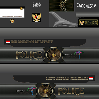 Download Livery Arjuan XHD Bus Police Military