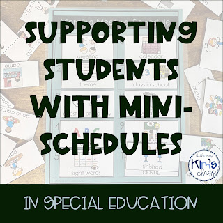Using Mini Schedules in Special Education