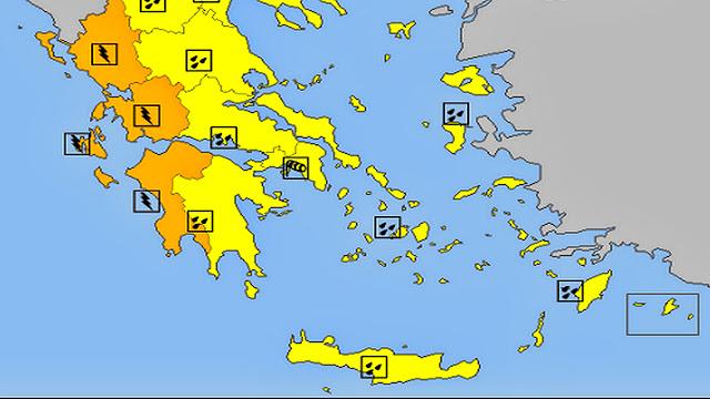 Σοβαρή επιδείνωση του καιρού και στην Πελοπόννησο