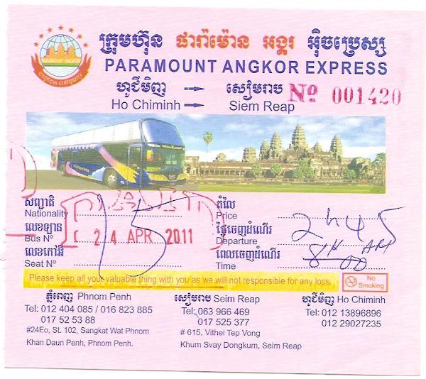 Billete autobus Vietnam - Camboya