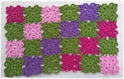 crochet squares, doily free pattern