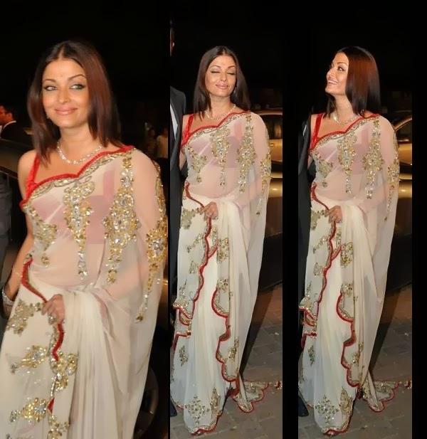 Aishwarya Rai In a white sari