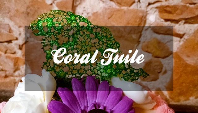 Decoraciones: Crujiente Coral Tuile