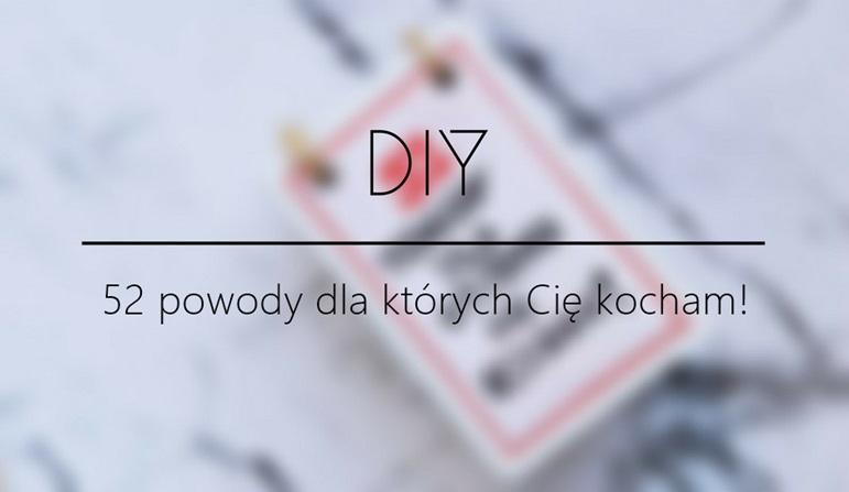 DIY  - 52 powody dla których Cię kocham #karty
