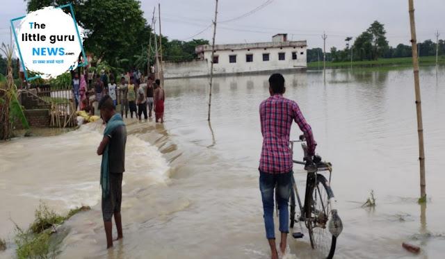 फेनहारा में भी कई गांवों में बाढ़ का पानी घुसा, कई गांवों का सड़क संपर्क भंग