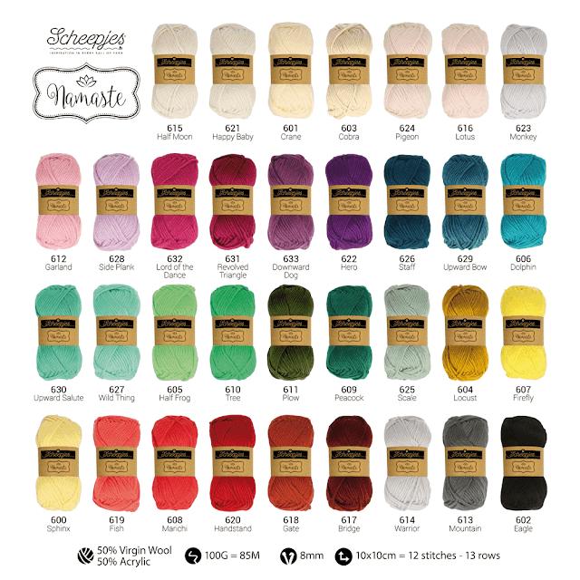 Scheepjes Namaste Yarn -- 34 colors, Bulky 50% Virgin Wool, 50% Acrylic