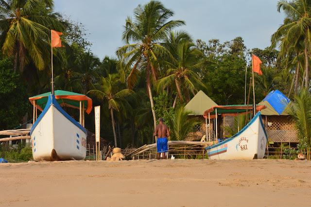 Bateau de pêcheur à Agonda Beach