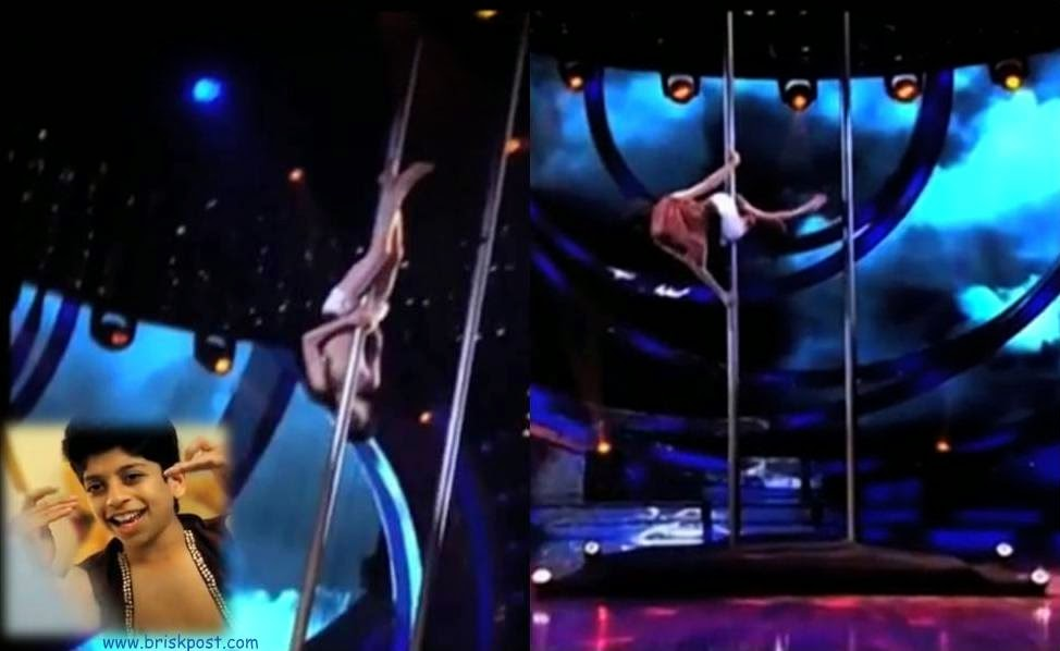 Pole dance by Sanket in DID Little Masters