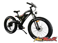 """Addmotor MOTAN M-850 Fat Tire Electric Bicycle, with 26"""" x 4"""" wide fat tires, dual suspension, 500w motor, 48v 10.4AH lithium battery, full electric mode or pedal assist, speeds up to 25 mph, distance range between 30-45 miles"""