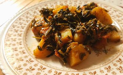 methi aloo, veg recipes of india, methi aloo recipe thehoggerz.com