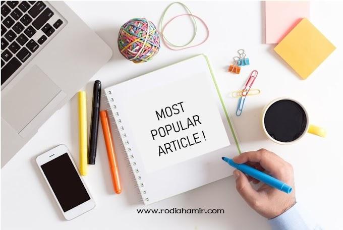 Senarai 9 Artikel Paling Popular Sepanjang Januari 2019