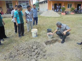 Kadiknas OI Peletakan Batu Pertama RKB SMKN 1 Pemulutan Selatan