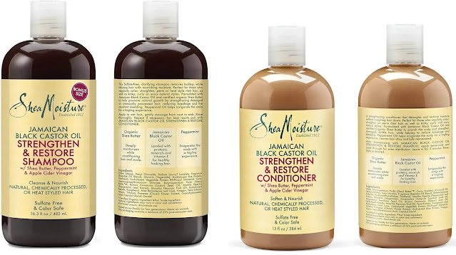 3. Shea Moisture Strengthen, Grow & Restore Shampoo and Conditioner Set