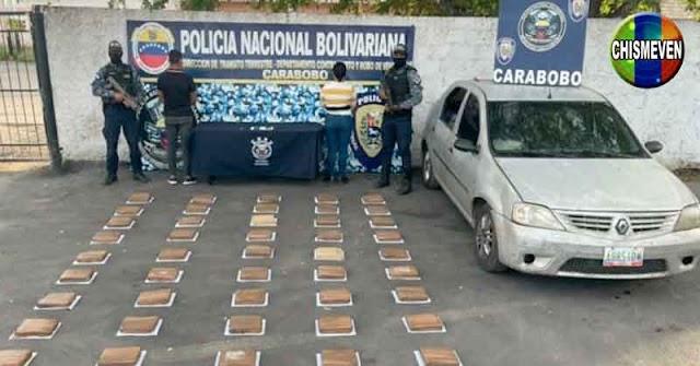 Detenido teniente de la GNB transportando 50 panelas de droga