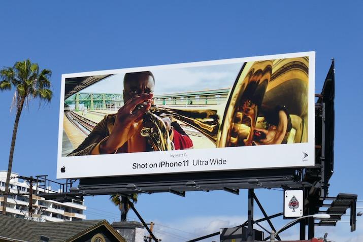Shot on iPhone 11 Ultra Wide Matt G billboard