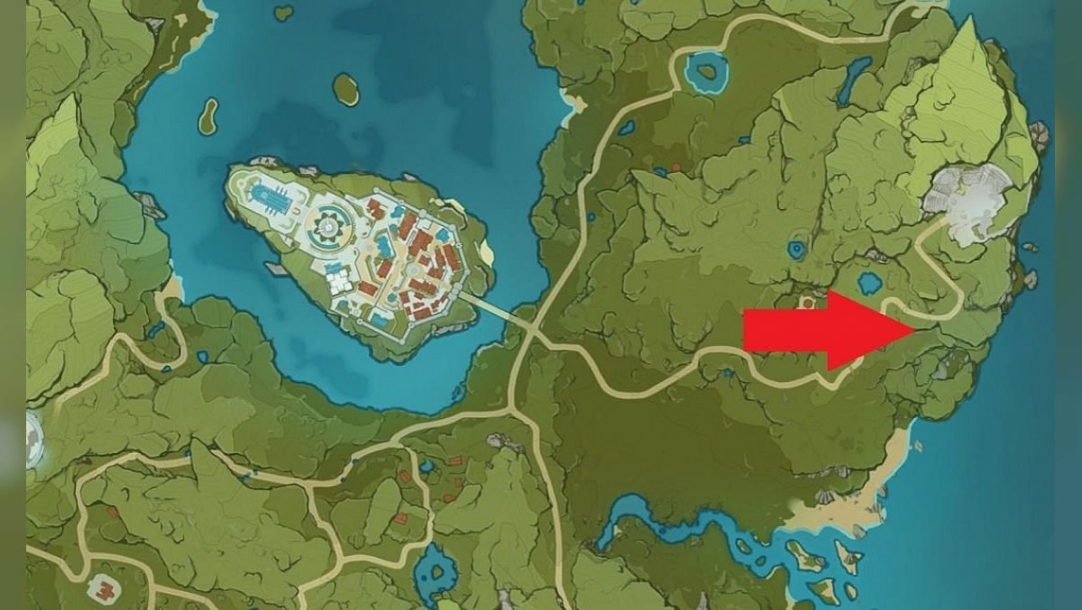 Location of the Temple of the Wolf of the North