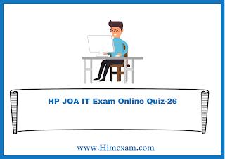 HP JOA IT Exam Online Quiz-26