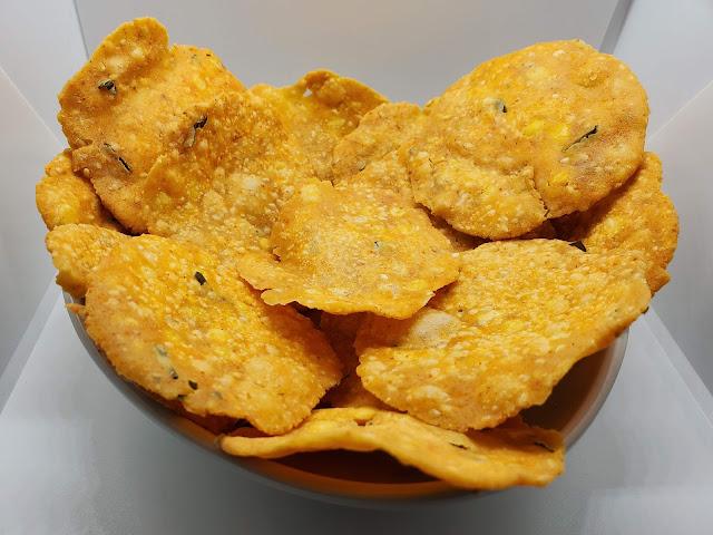 A bowl full of Pappuchekkalu